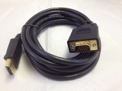 Display Port to VGA 10FT 28AWG Cable