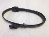 "Black 18"" SATA cable with both sides latch"